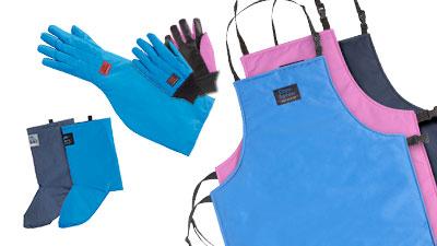 Handschuhe/Schürzen/Gamaschen