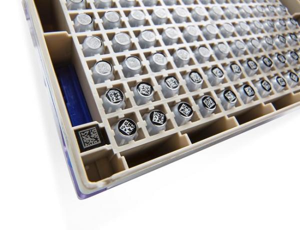 Matrix-Röhrchen 2D-Code 1,0 ml, weißes Schreibfeld