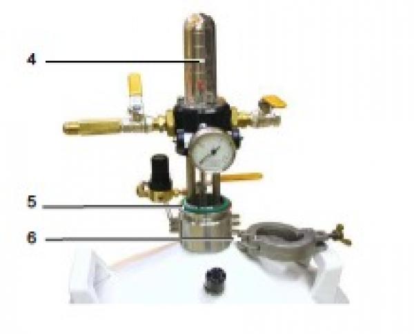 Entnahmekopf für Air Liquide Behälter