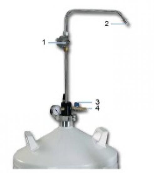 Entnahmeheber für Air Liquide Behälter