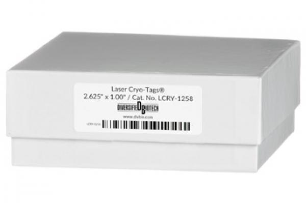 Cryo-Tags 67x25 mm für Laser-Drucker