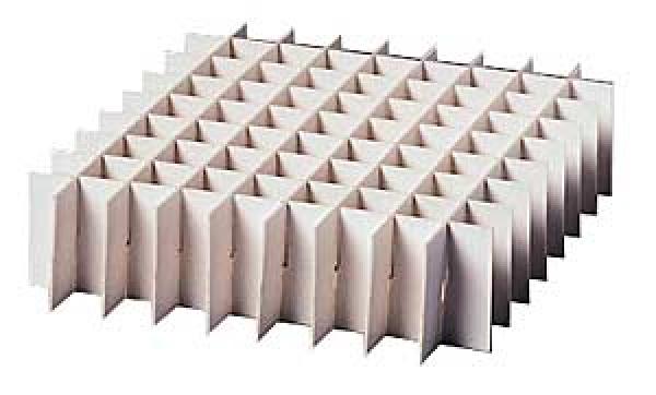 Rastereinsatz 136 x 136mm, Rasterhöhe 40 mm