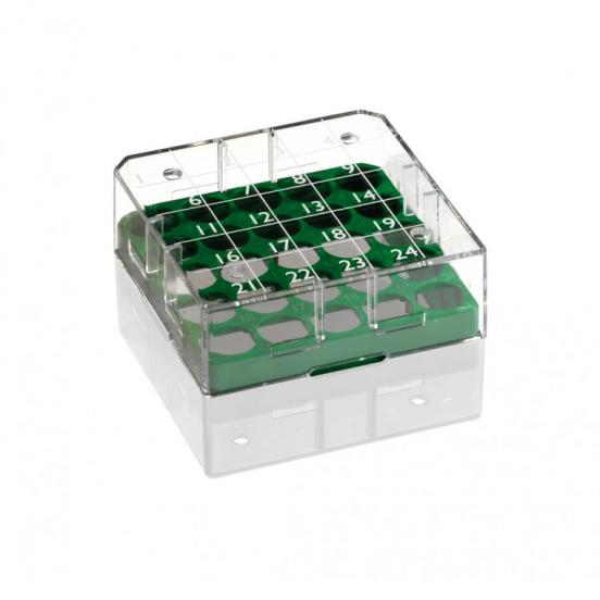 Cryo-Box 1/4 Format mit 5x5 Raster